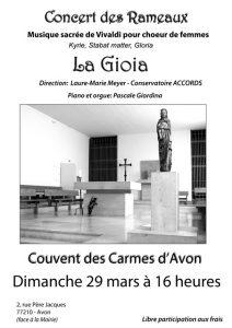 Carmes - Concert des Rameaux du 29 mars 2015