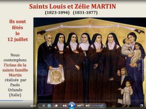 Icône de saints Louis et Zélie