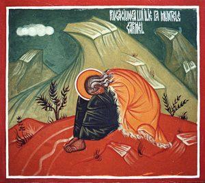 Elie en prière sur le Carmel