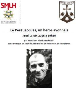 Conférence P. Jacques 2 juin Avon